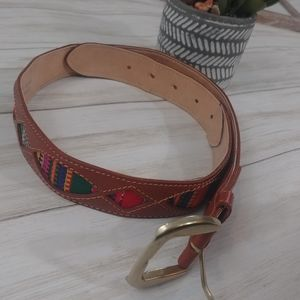 Accessories - Southwestern Embroidered Ribco Belt